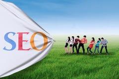 Концепция оптимизирования SEO стоковая фотография