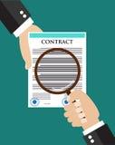 Концепция осмотра контракта Стоковое фото RF