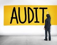 Концепция осмотра финансов счетоводства бухгалтерии проверки Стоковое Изображение RF