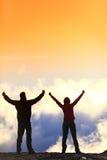Концепция достижения жизни успеха - веселя люди Стоковые Фотографии RF