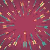 Концепция достижения цели вектора в плоском стиле иллюстрация штока