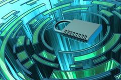 Концепция доступа к данным безопасностью, уединением, защитой и безопасностью Стоковое фото RF