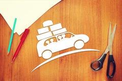 Концепция отключения семьи автомобилем Стоковая Фотография RF