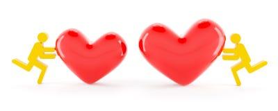Концепция отношения влюбленности Стоковые Фотографии RF