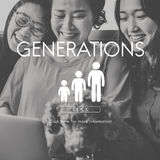 Концепция отношения единения семьи поколений стоковые изображения