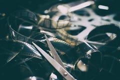 Концепция отрезка выпускных экзаменов продукции кино Стоковая Фотография RF