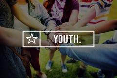 Концепция отрочества поколения подростков молодости стоковое фото