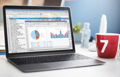 Концепция отчете о Financal документа электронной таблицы Стоковое Изображение RF