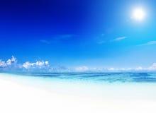 Концепция отдыха летних каникулов пляжа рая Стоковое фото RF