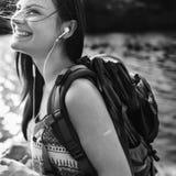 Концепция отдыха назначения рюкзака приключения внешняя стоковая фотография rf