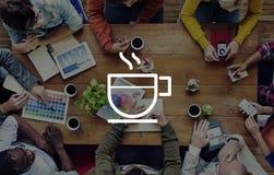 Концепция отдыха освежения напитка кофе пролома расслабляющая Стоковое Изображение