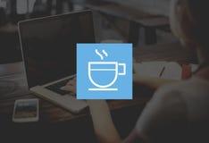 Концепция отдыха освежения напитка кофе пролома расслабляющая Стоковая Фотография RF