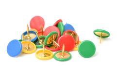 концепция офиса Различные канцелярская кнопка или pushpin цвета Стоковая Фотография RF