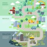 Концепция охраны окружающей среды иллюстрация вектора