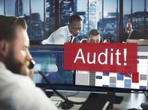 Концепция оценки оценки счетоводства бухгалтерии проверки Стоковые Изображения RF