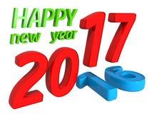 концепция 2016 до 2017 переходов Стоковые Изображения