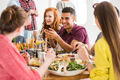 Концепция партии еды Vegan стоковое фото
