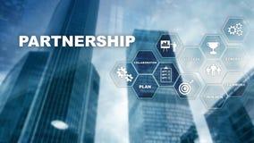Концепция партнерства дела Успешное дело после большей встречи Множественная выдержка, мультимедиа стоковое фото rf