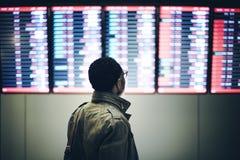Концепция пассажира бизнесмена ждать стоковое фото rf