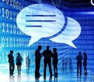 Концепция переговора связи пузыря речи болтовни Стоковое Изображение RF