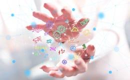 Концепция передвижных apps стоковое изображение