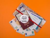 Концепция - перемещение к Европе стоковое изображение