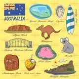 Концепция перемещения Австралии иллюстрация вектора