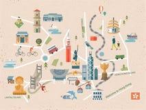 Концепция перемещения Гонконга иллюстрация штока