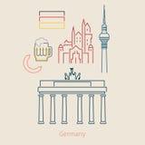 Концепция перемещения или немца изучать Стоковое Изображение
