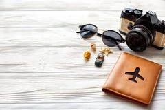 Концепция перемещения и wanderlust, предпосылка летних каникулов, космос Стоковая Фотография