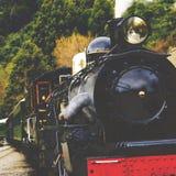 Концепция перемещения транспорта железной дороги сельской местности поезда пара Стоковое Фото