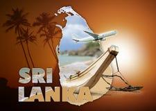 Концепция перемещения Шри-Ланки Стоковые Изображения RF
