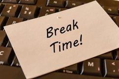 Концепция периода отдыха на предпосылке клавиатуры Стоковые Фото