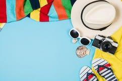 Концепция песчаного пляжа взгляд сверху Графическая предпосылка с космосом экземпляра Стоковое Изображение RF