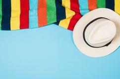 Концепция песчаного пляжа взгляд сверху Графическая предпосылка с космосом экземпляра Стоковое Изображение