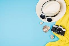 Концепция песчаного пляжа взгляд сверху Графическая предпосылка с космосом экземпляра Стоковое Фото