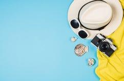 Концепция песчаного пляжа взгляд сверху Графическая предпосылка с космосом экземпляра Стоковые Фотографии RF