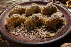 Концепция печенья бахлавы еды турецкая Стоковые Фотографии RF