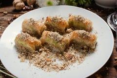 Концепция печенья бахлавы еды турецкая Стоковые Изображения