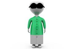 концепция пижамы человека 3d Стоковые Изображения