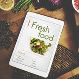 Концепция питания калорий кафа еды свежих продуктов Стоковые Изображения RF