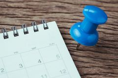 Концепция планирования назначения, крайнего срока, праздника или даты, большое голубое стоковые фотографии rf