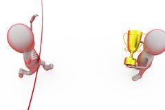концепция победителя гонки человека 3d Стоковое Изображение RF