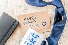 Концепция подарка дня ` s отца Стоковое Изображение