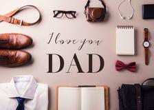 Концепция поздравительной открытки дня отцов r стоковая фотография