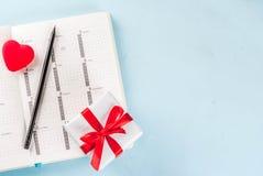 Концепция поздравительной открытки дня ` s валентинки Стоковая Фотография