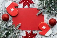 Концепция поздравительной открытки рождества Стоковое фото RF