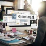 Концепция поиска вакансии сдельной работы рекрутства стоковое фото