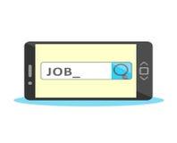 Концепция поиска работы онлайн Стоковые Фото