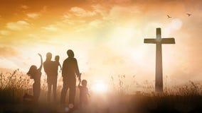 Концепция поклонению семьи Стоковое Фото